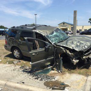 Ocala roll-over accident on MLK